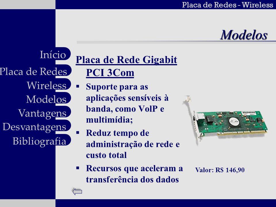 Modelos Placa de Rede Gigabit PCI 3Com