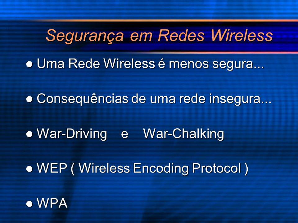 Segurança em Redes Wireless