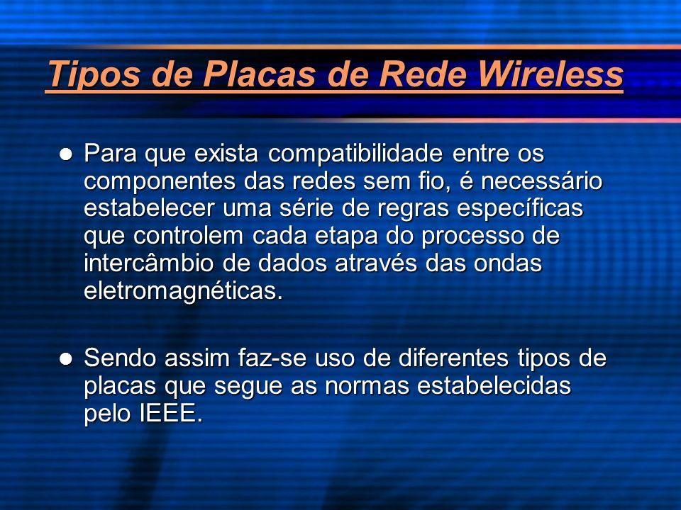 Tipos de Placas de Rede Wireless