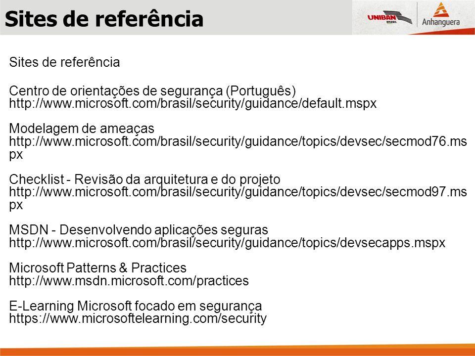 Sites de referência Sites de referência