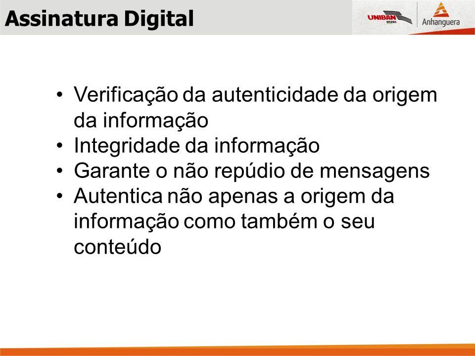 Verificação da autenticidade da origem da informação