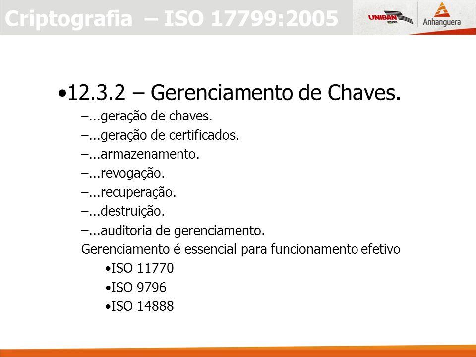 12.3.2 – Gerenciamento de Chaves.