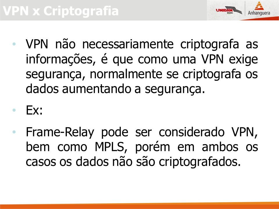 VPN x Criptografia
