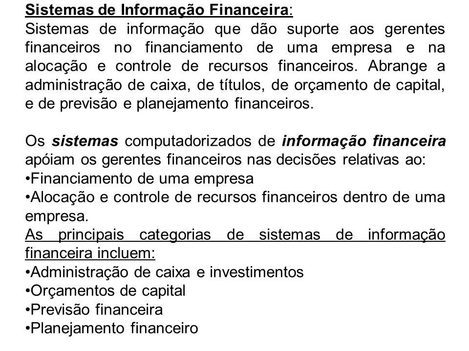 Sistemas de Informação Financeira: