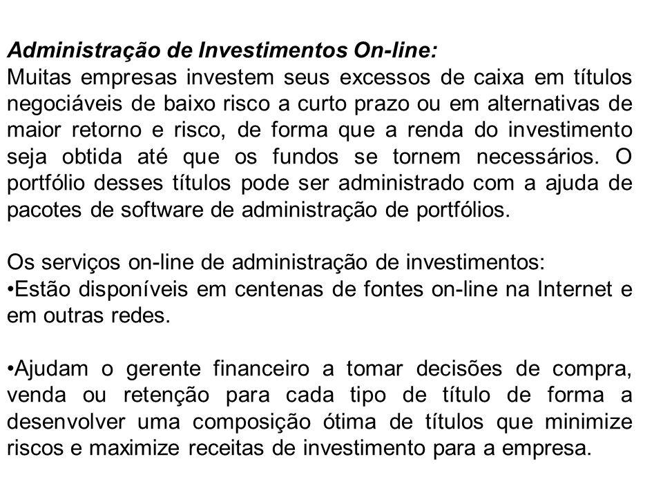 Administração de Investimentos On-line: