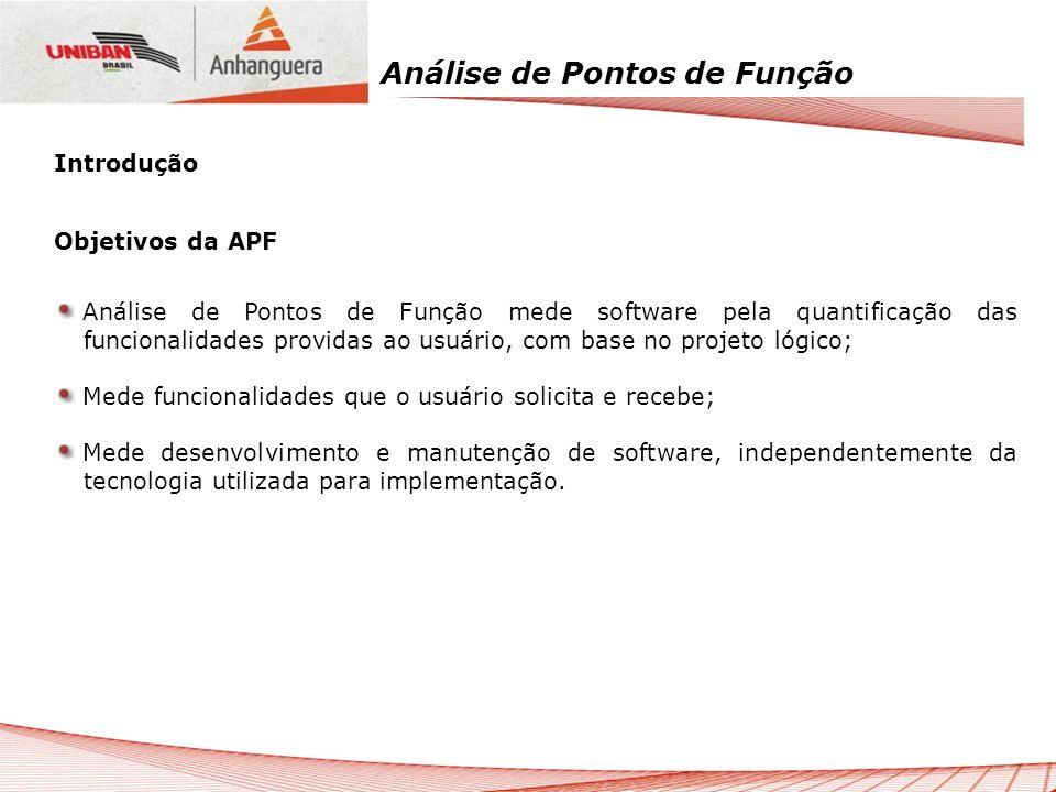 Introdução Objetivos da APF.