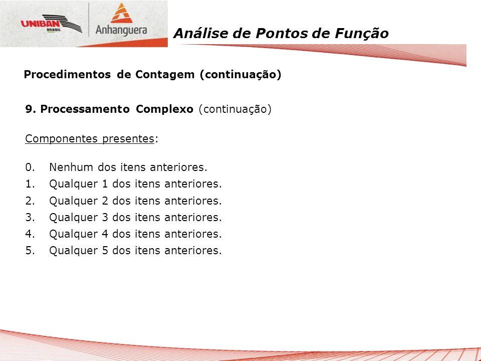 Procedimentos de Contagem (continuação)