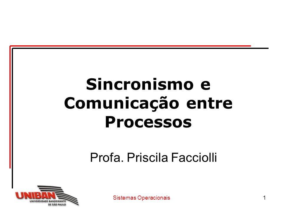 Sincronismo e Comunicação entre Processos