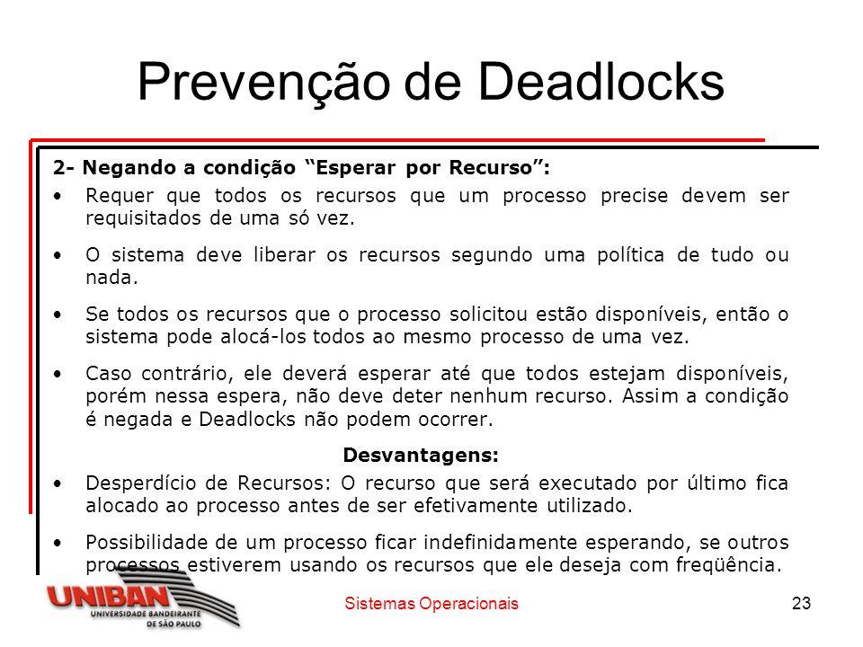 Prevenção de Deadlocks
