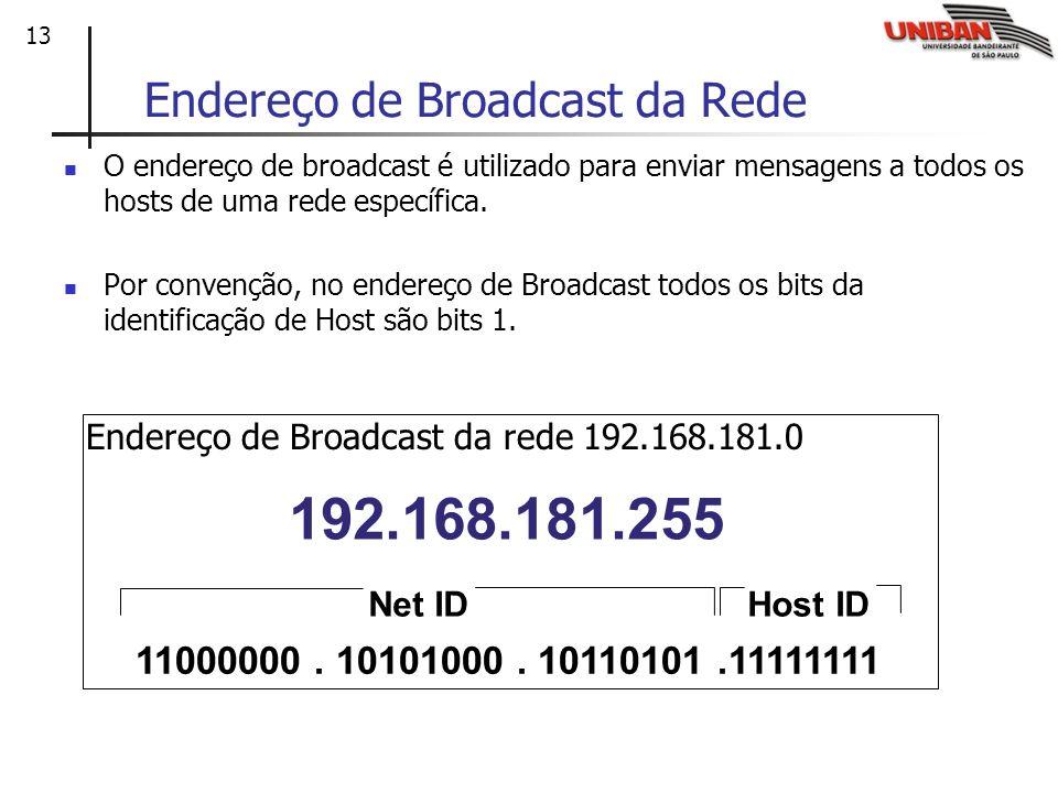 Endereço de Broadcast da Rede