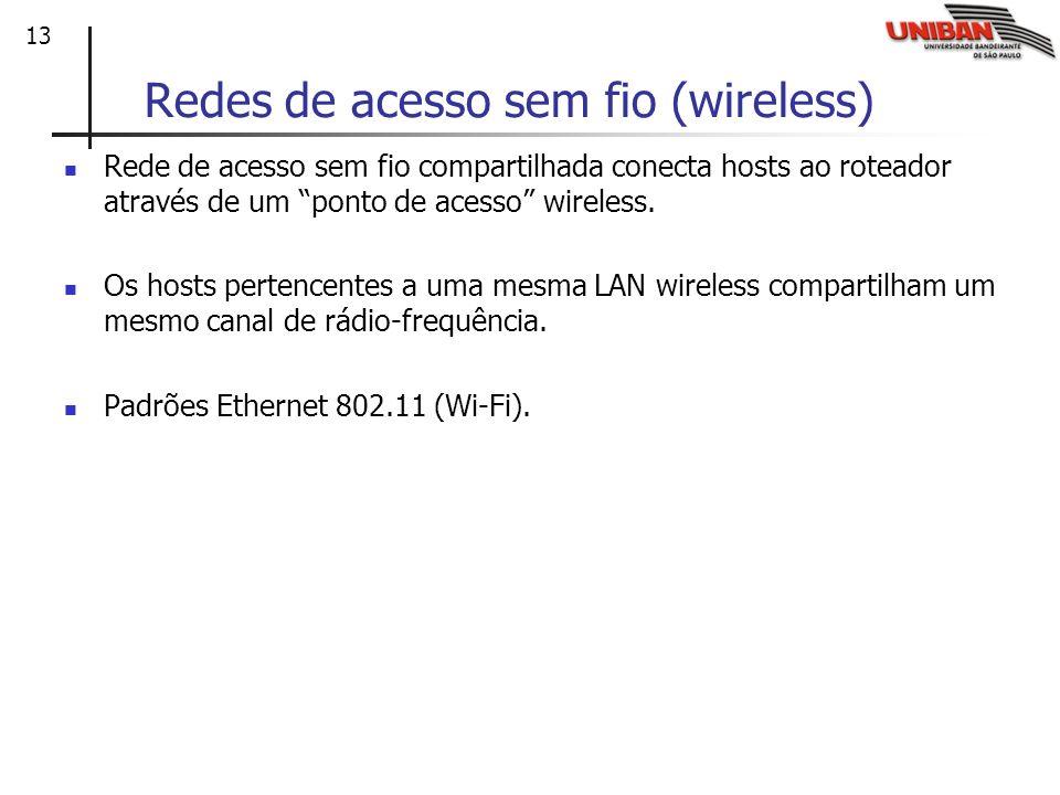Redes de acesso sem fio (wireless)
