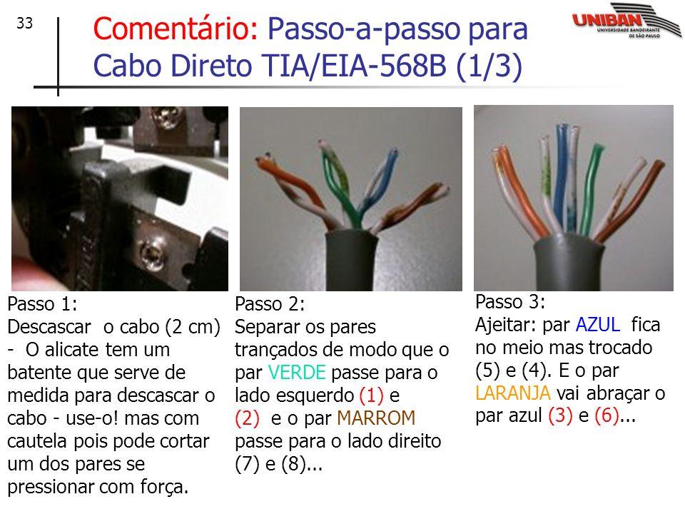 Comentário: Passo-a-passo para Cabo Direto TIA/EIA-568B (1/3)