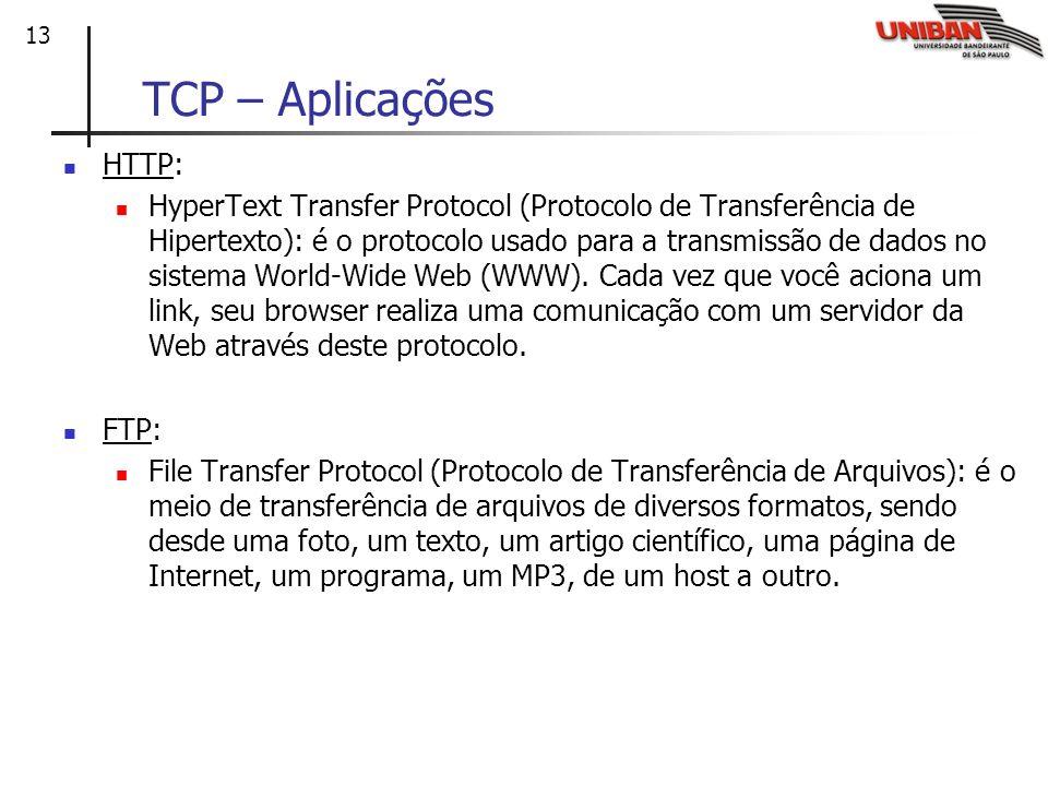 TCP – AplicaçõesHTTP: