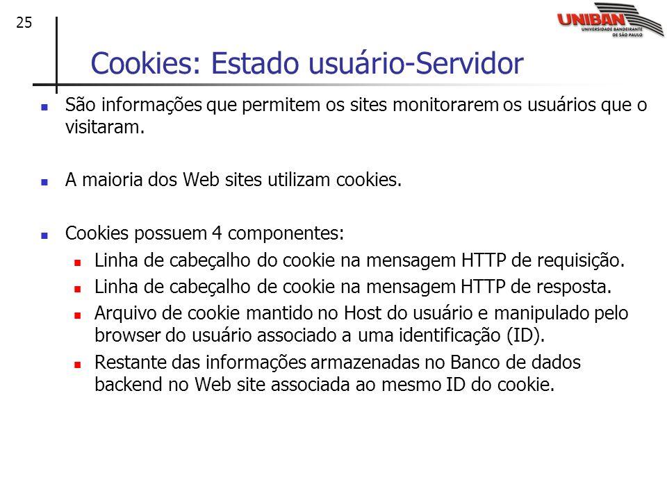Cookies: Estado usuário-Servidor