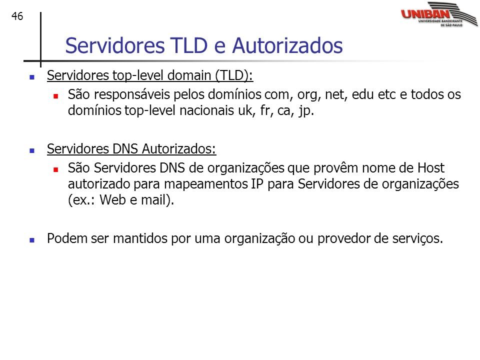 Servidores TLD e Autorizados