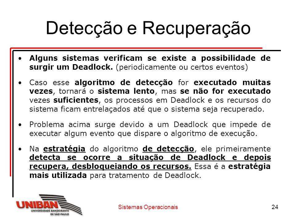 Detecção e Recuperação