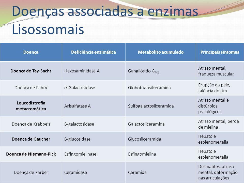 Doenças associadas a enzimas Lisossomais