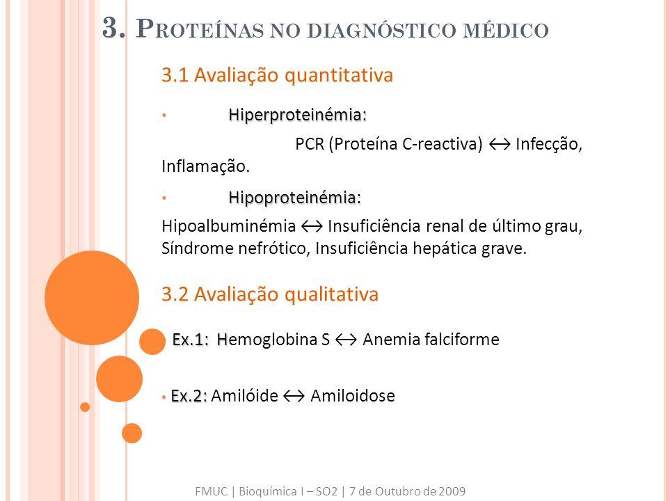 3. Proteínas no diagnóstico médico