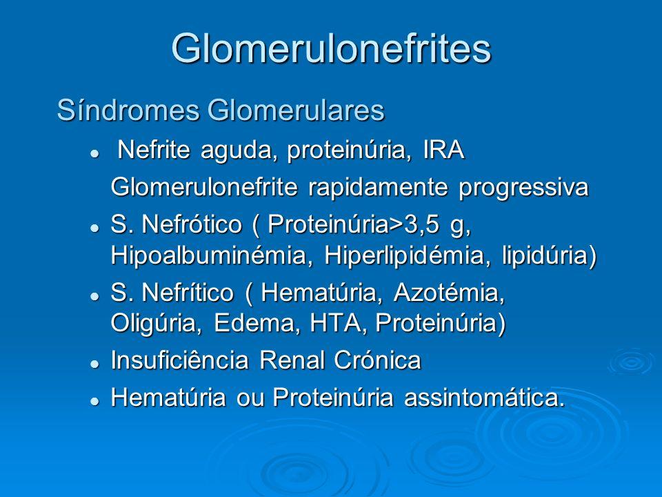 Glomerulonefrites Síndromes Glomerulares