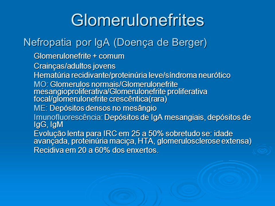 Glomerulonefrites Nefropatia por IgA (Doença de Berger)
