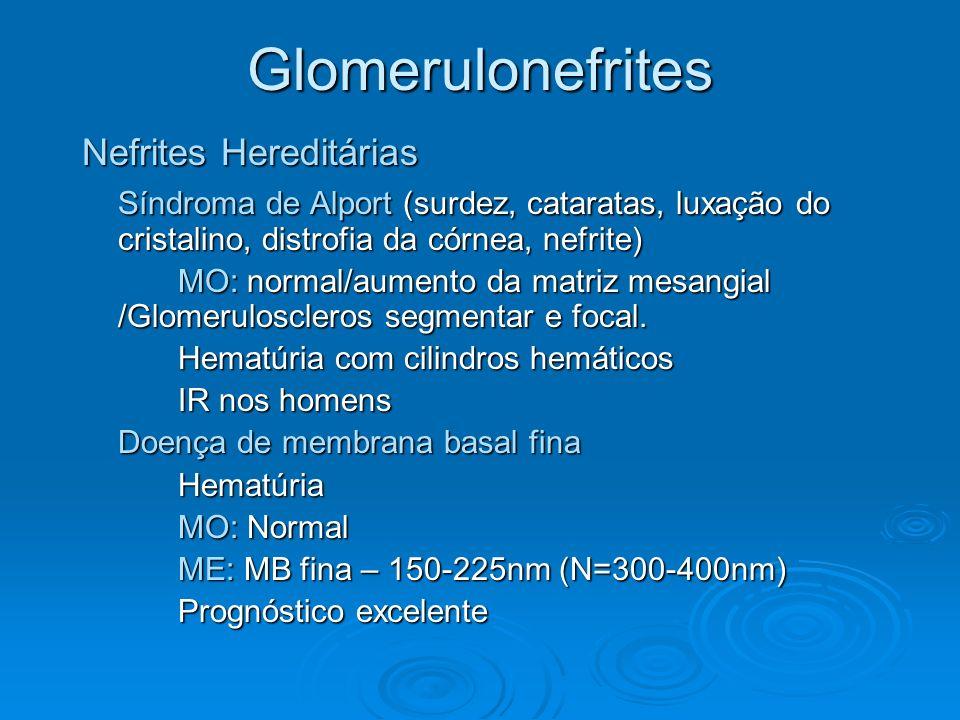 Glomerulonefrites Nefrites Hereditárias