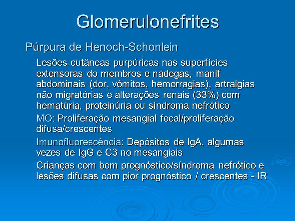 Glomerulonefrites Púrpura de Henoch-Schonlein