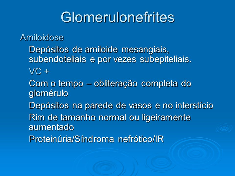 Glomerulonefrites Amiloidose