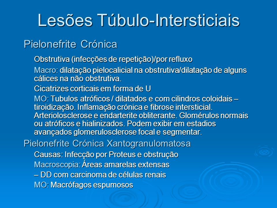 Lesões Túbulo-Intersticiais