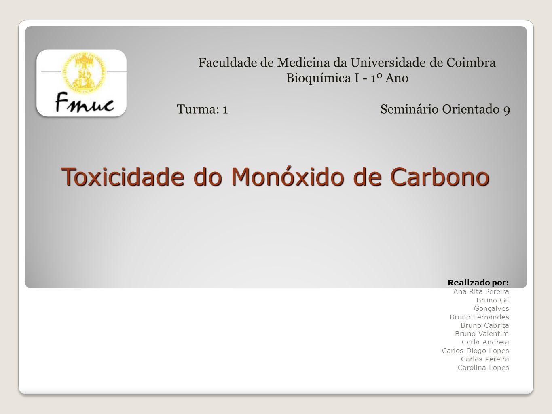 Toxicidade do Monóxido de Carbono