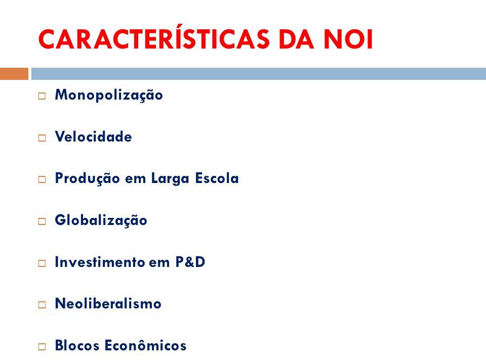 CARACTERÍSTICAS DA NOI