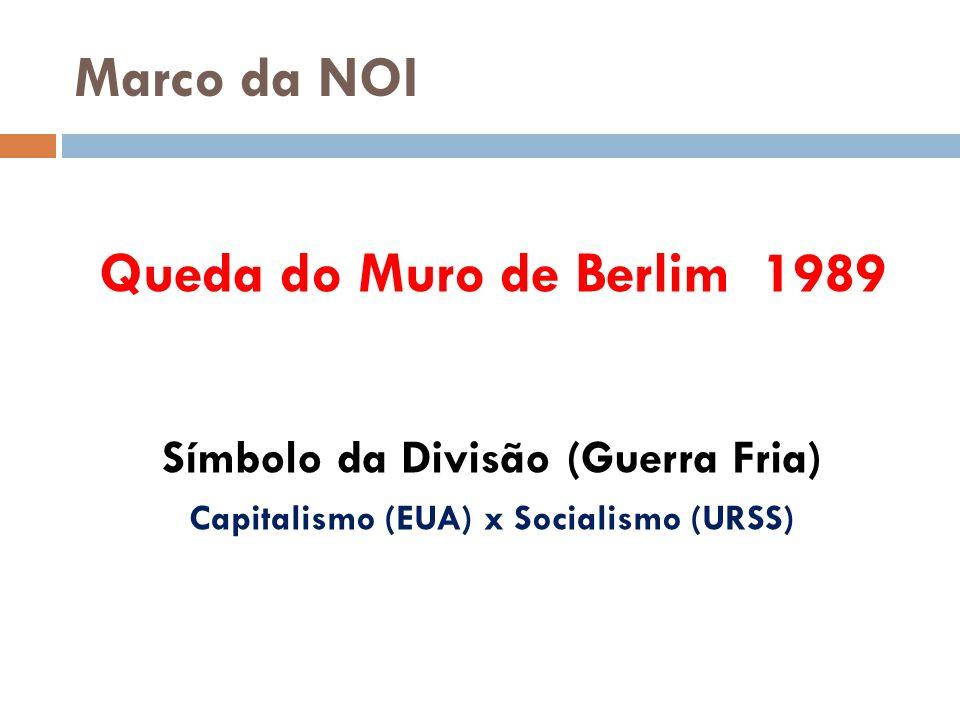 Símbolo da Divisão (Guerra Fria) Capitalismo (EUA) x Socialismo (URSS)