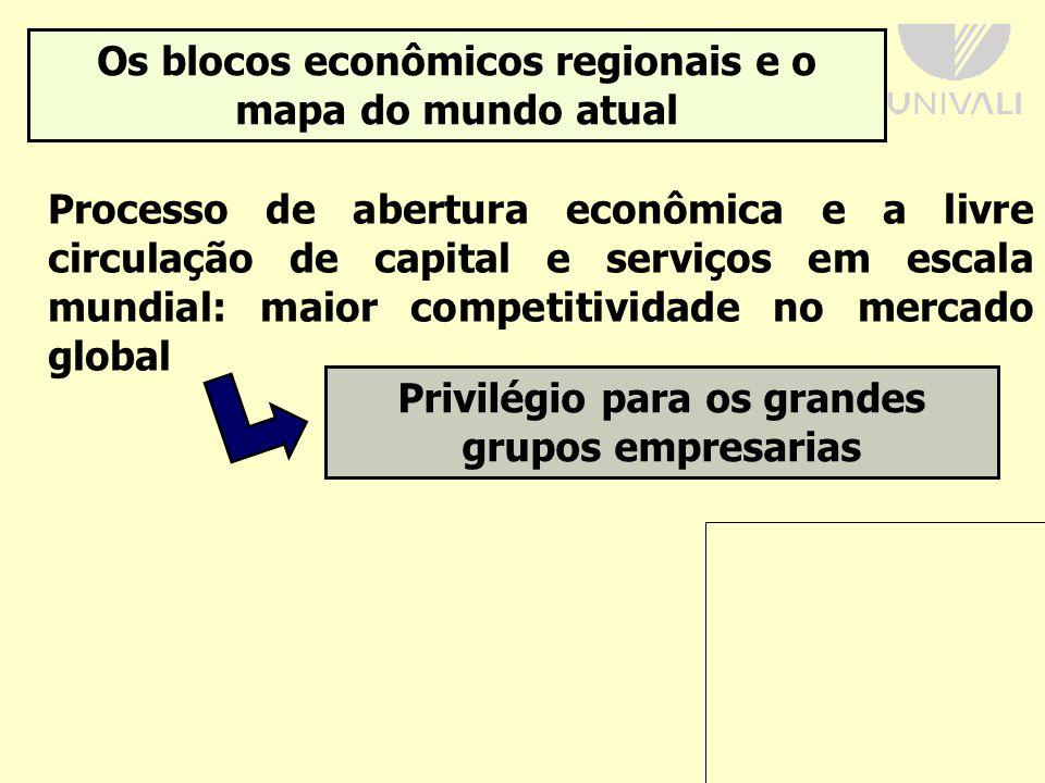 Os blocos econômicos regionais e o mapa do mundo atual