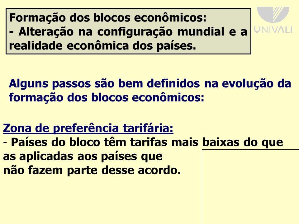 Formação dos blocos econômicos: