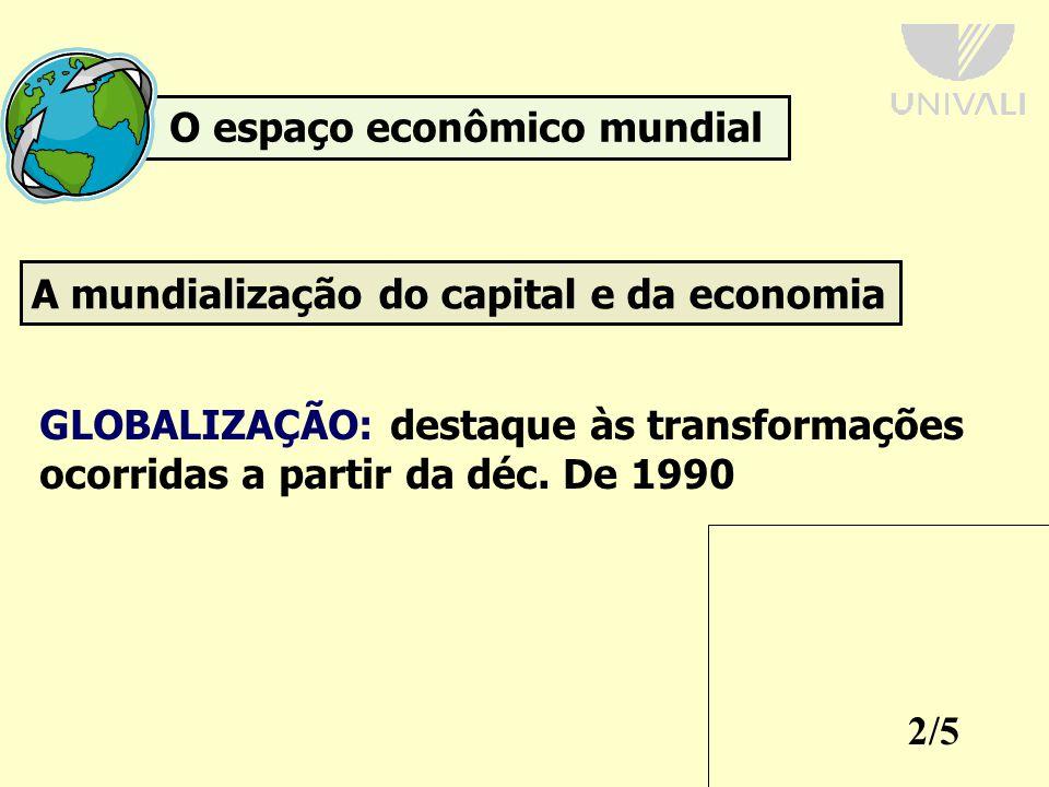 O espaço econômico mundial