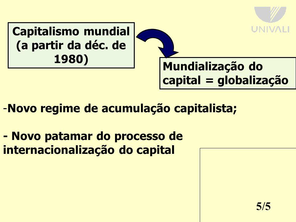 Capitalismo mundial (a partir da déc. de 1980)