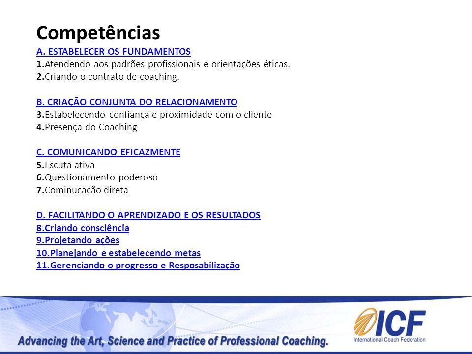 Competências A. ESTABELECER OS FUNDAMENTOS 1