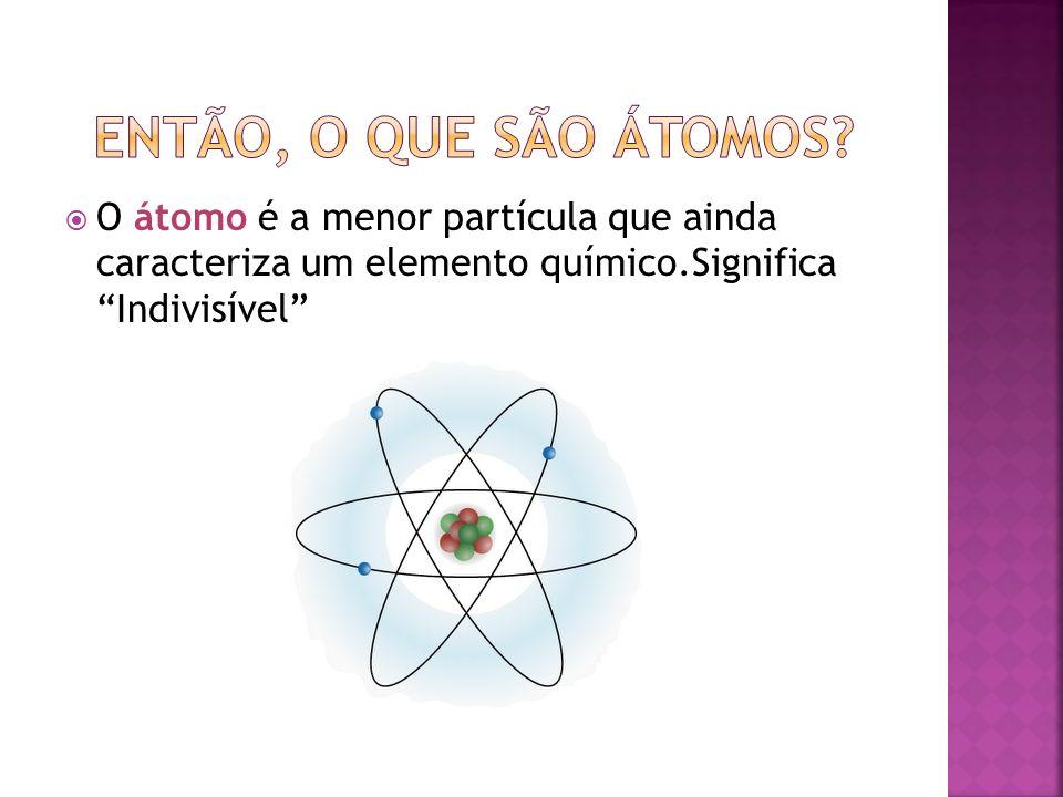 Então, o que são átomos.