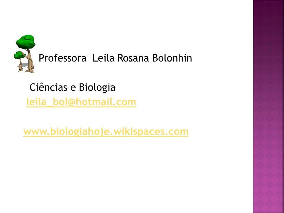 Professora Leila Rosana Bolonhin Ciências e Biologia leila_bol@hotmail