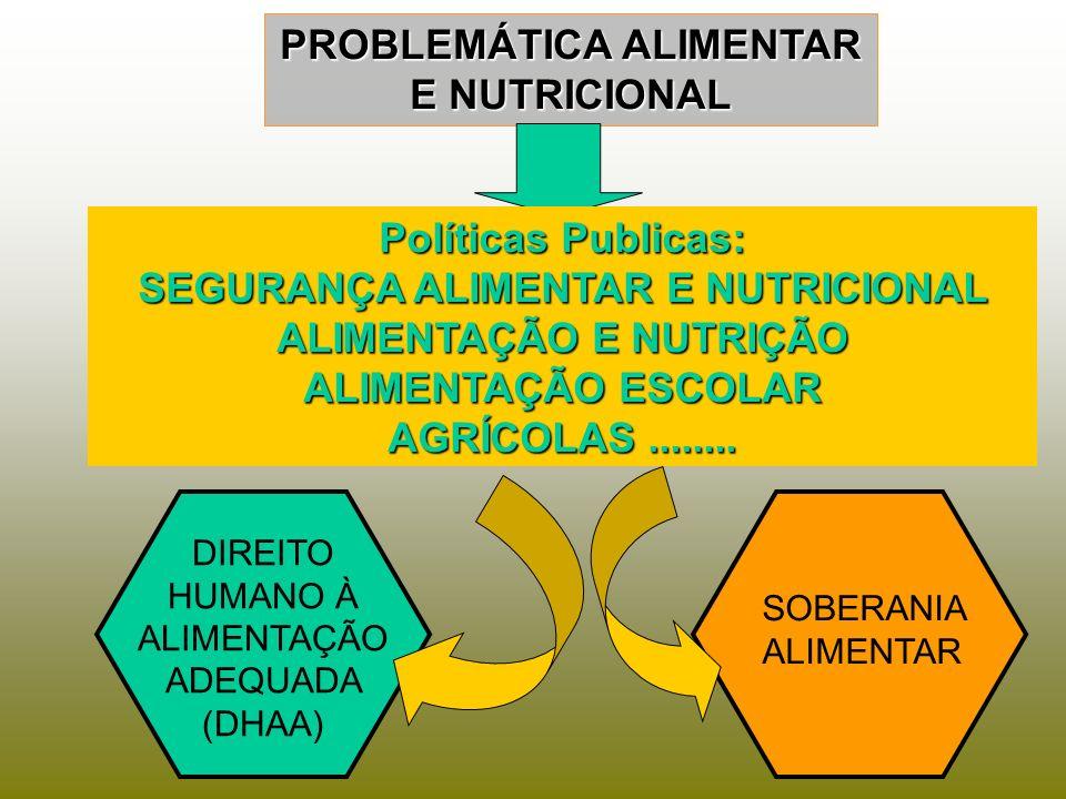 PROBLEMÁTICA ALIMENTAR E NUTRICIONAL