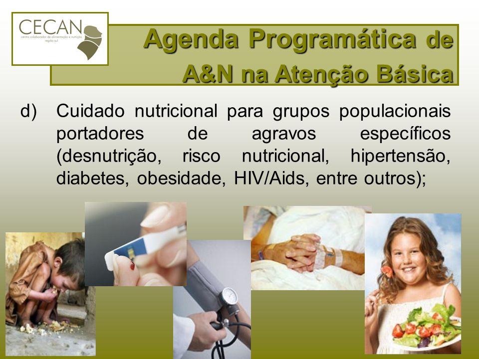 Agenda Programática de A&N na Atenção Básica