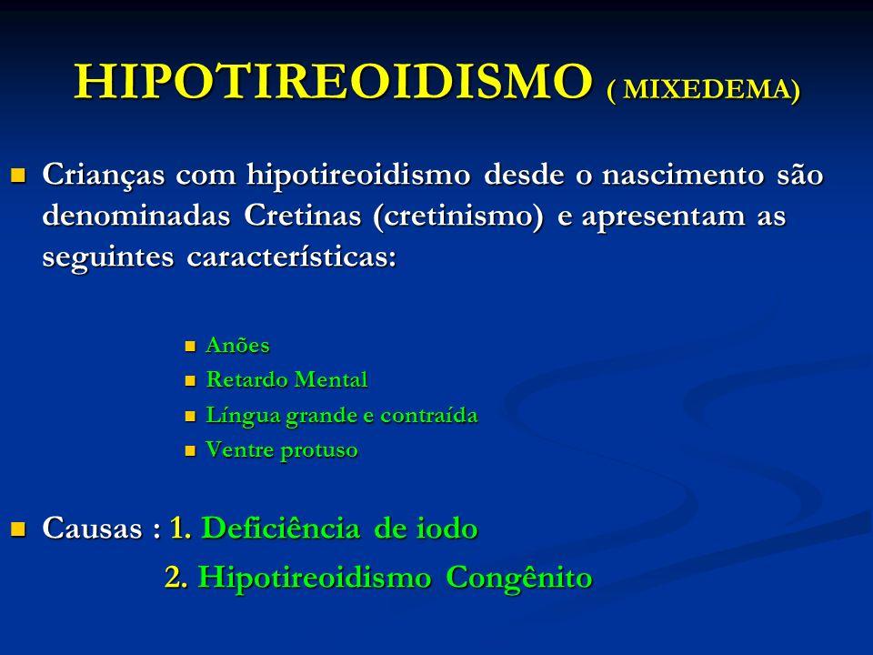 HIPOTIREOIDISMO ( MIXEDEMA)