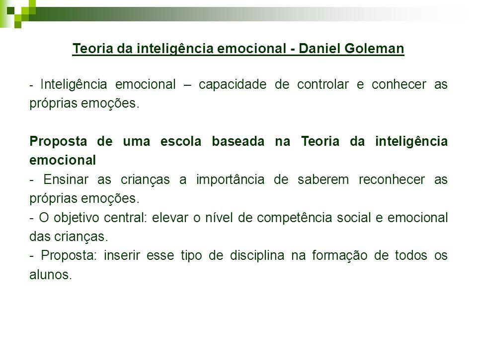 Teoria da inteligência emocional - Daniel Goleman