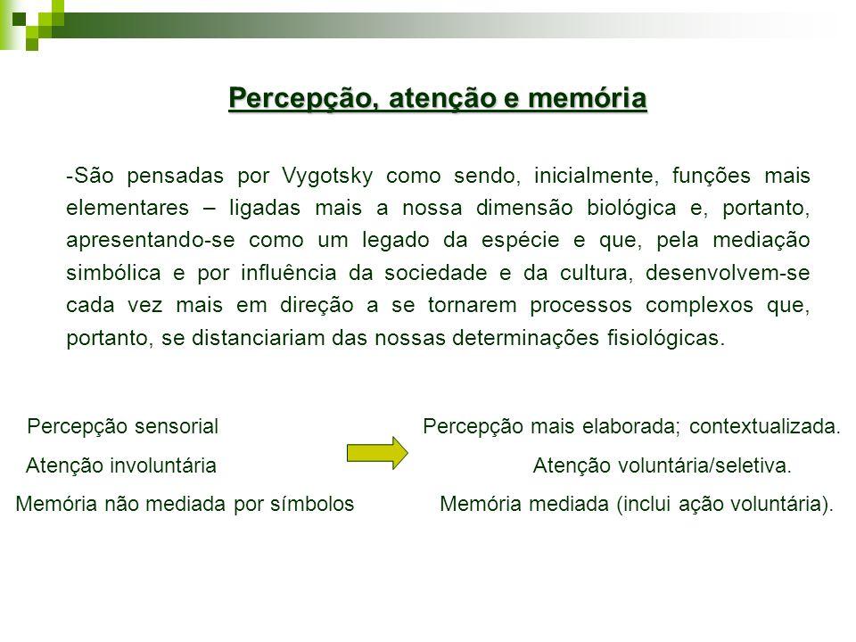 Percepção, atenção e memória