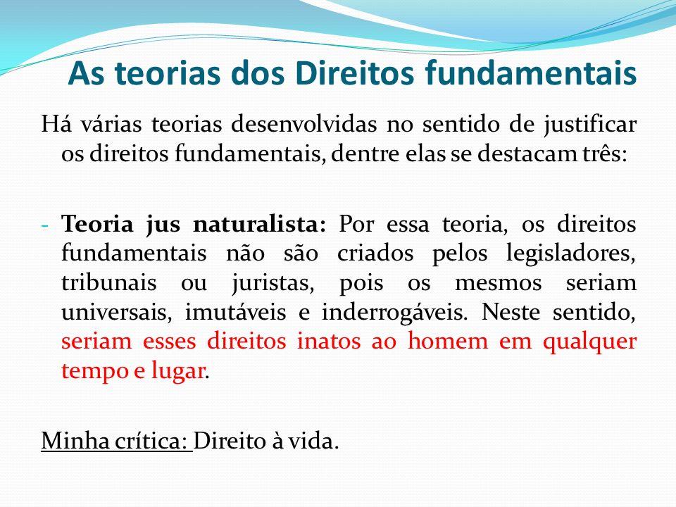 As teorias dos Direitos fundamentais