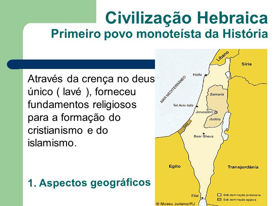 Civilização Hebraica Primeiro povo monoteísta da História