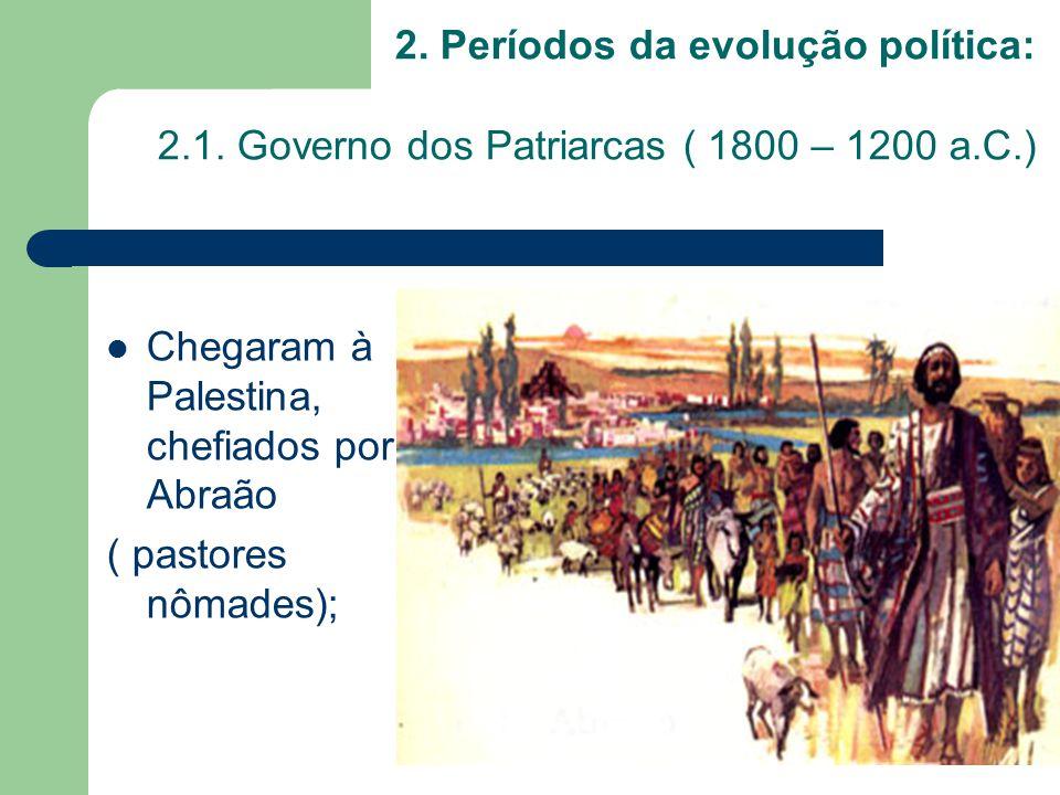 2. Períodos da evolução política: 2. 1