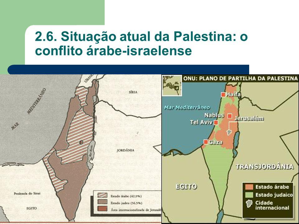 2.6. Situação atual da Palestina: o conflito árabe-israelense