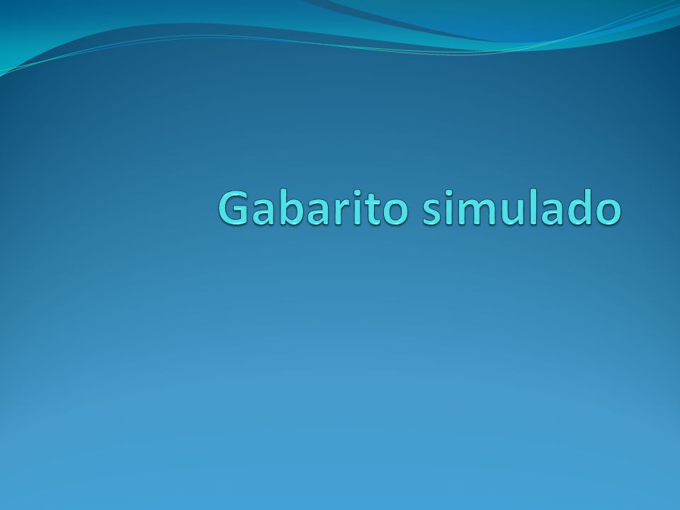 Gabarito simulado