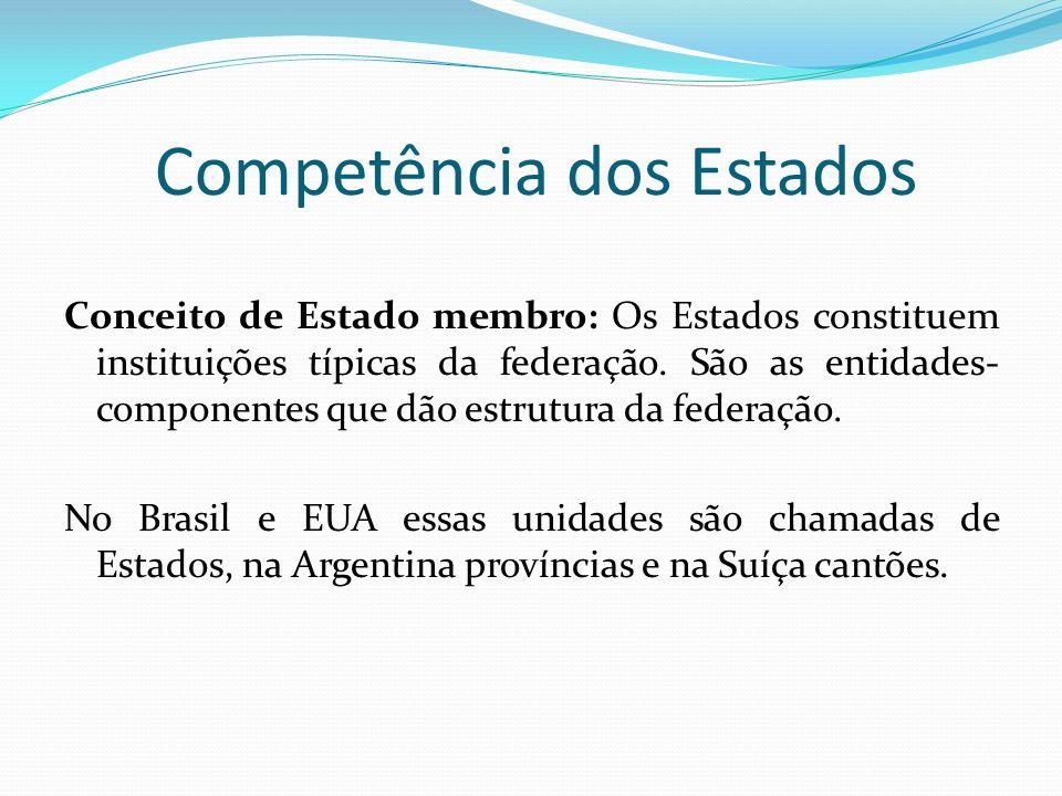 Competência dos Estados