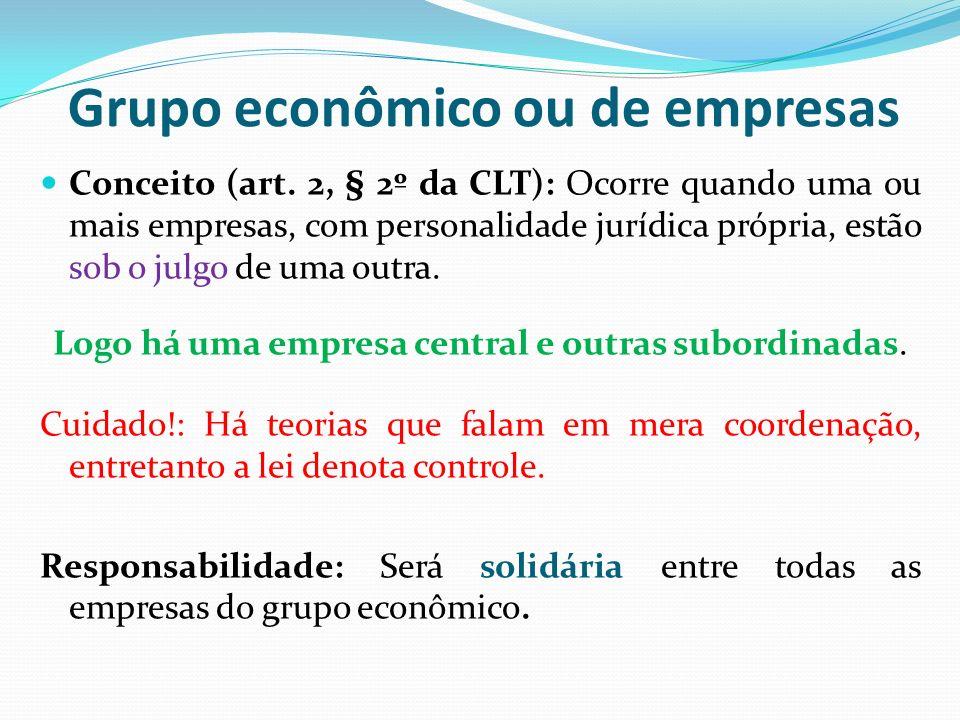 Grupo econômico ou de empresas
